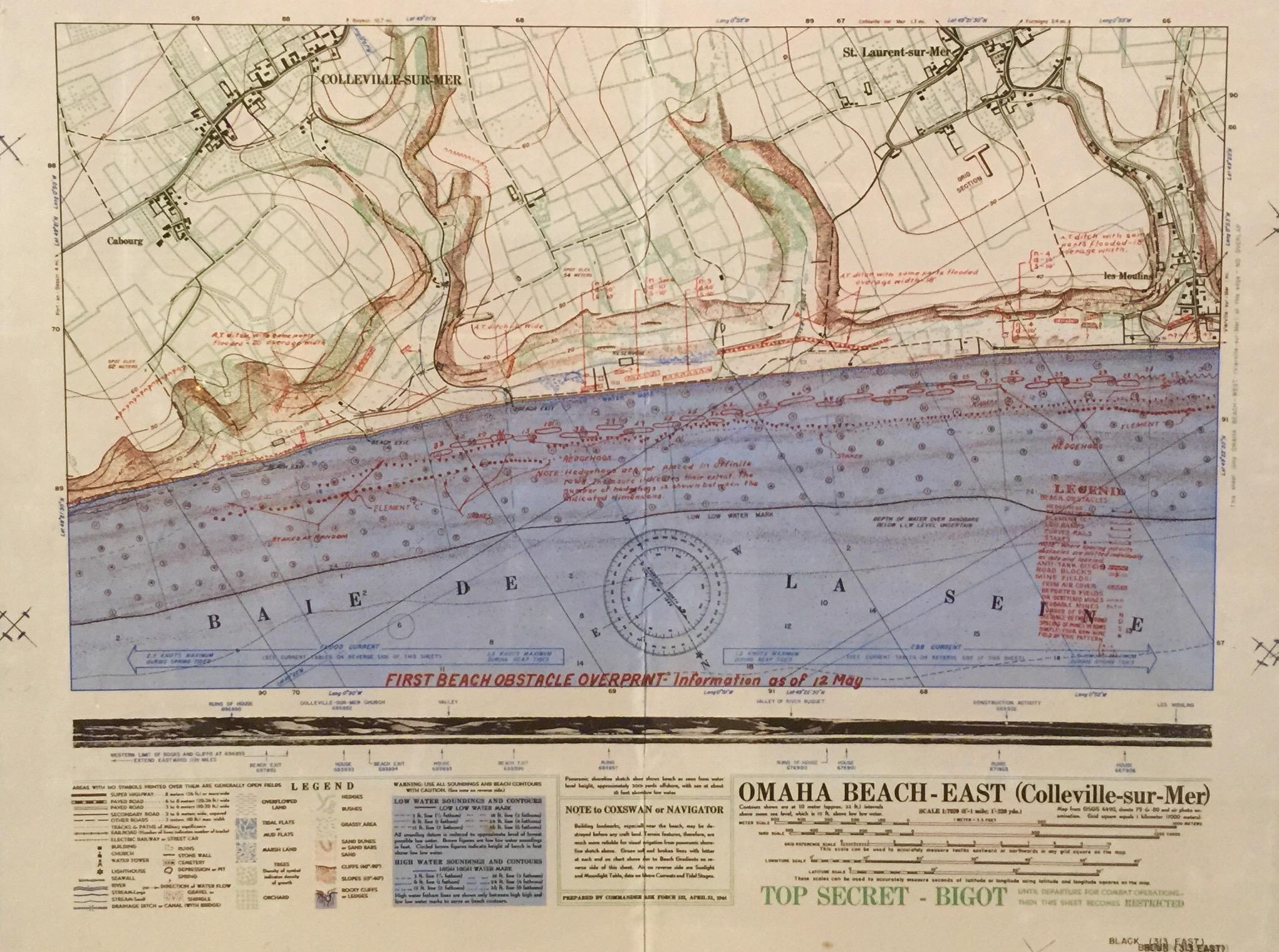 Omaha Beach - East invasion map