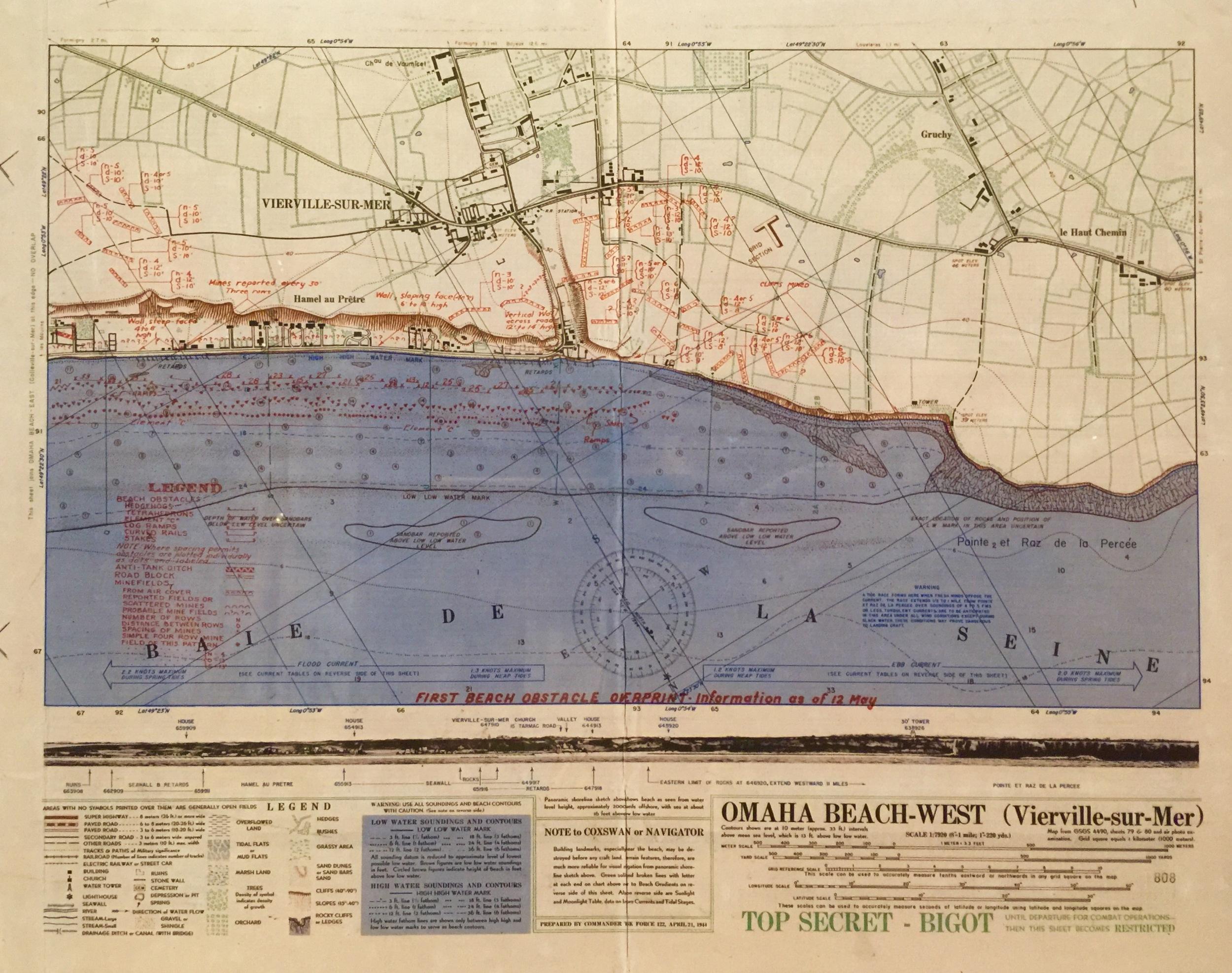 Omaha Beach - West invasion map