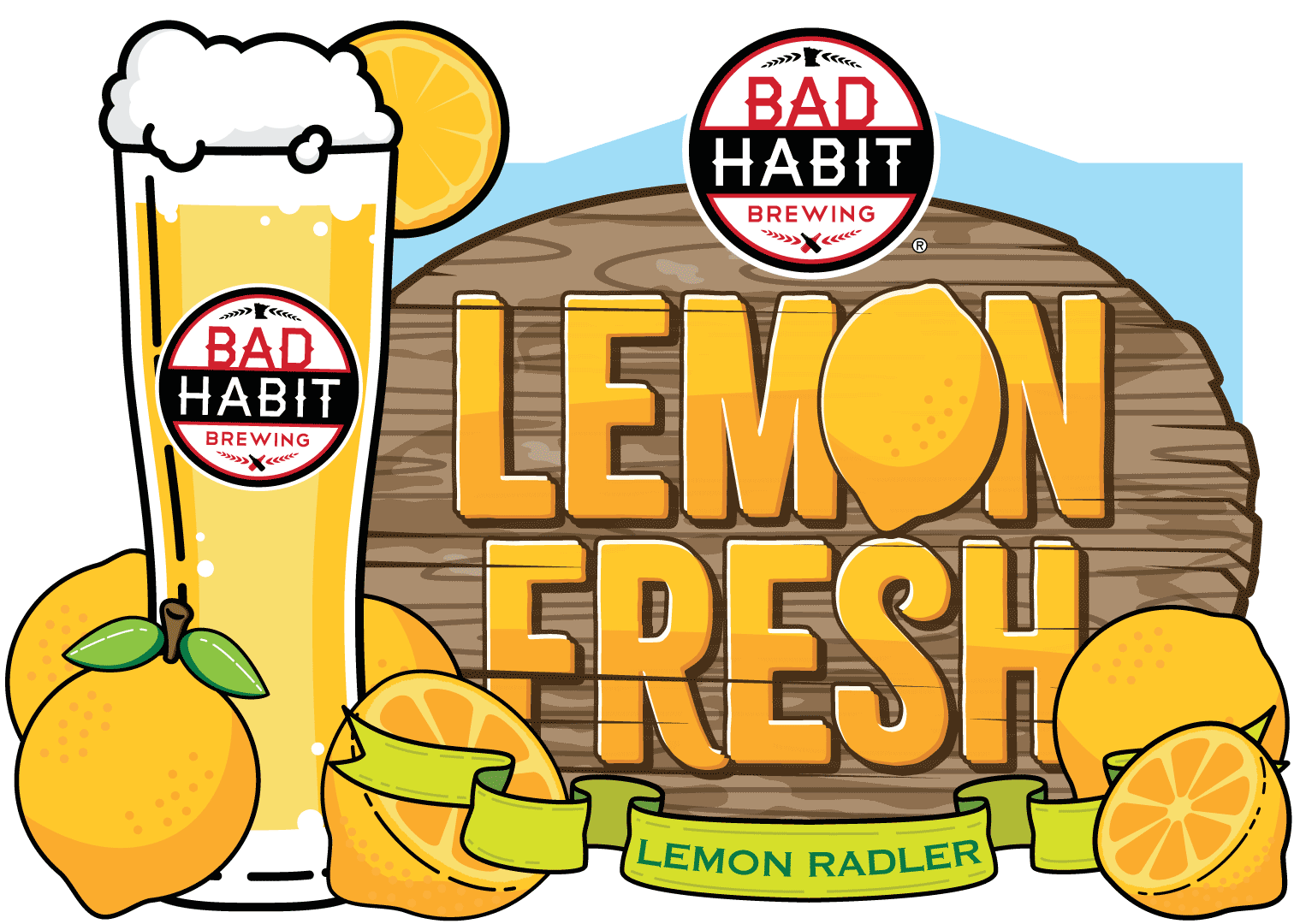 LEMONFRESH - Lemon Radler | 4.8% ABVWhat is better than sitting on the patio with a lemonade? How about sitting on the patio with our Lemon Fresh lemon radler. 50% lemonade, 50% ale, and 100% delicious!