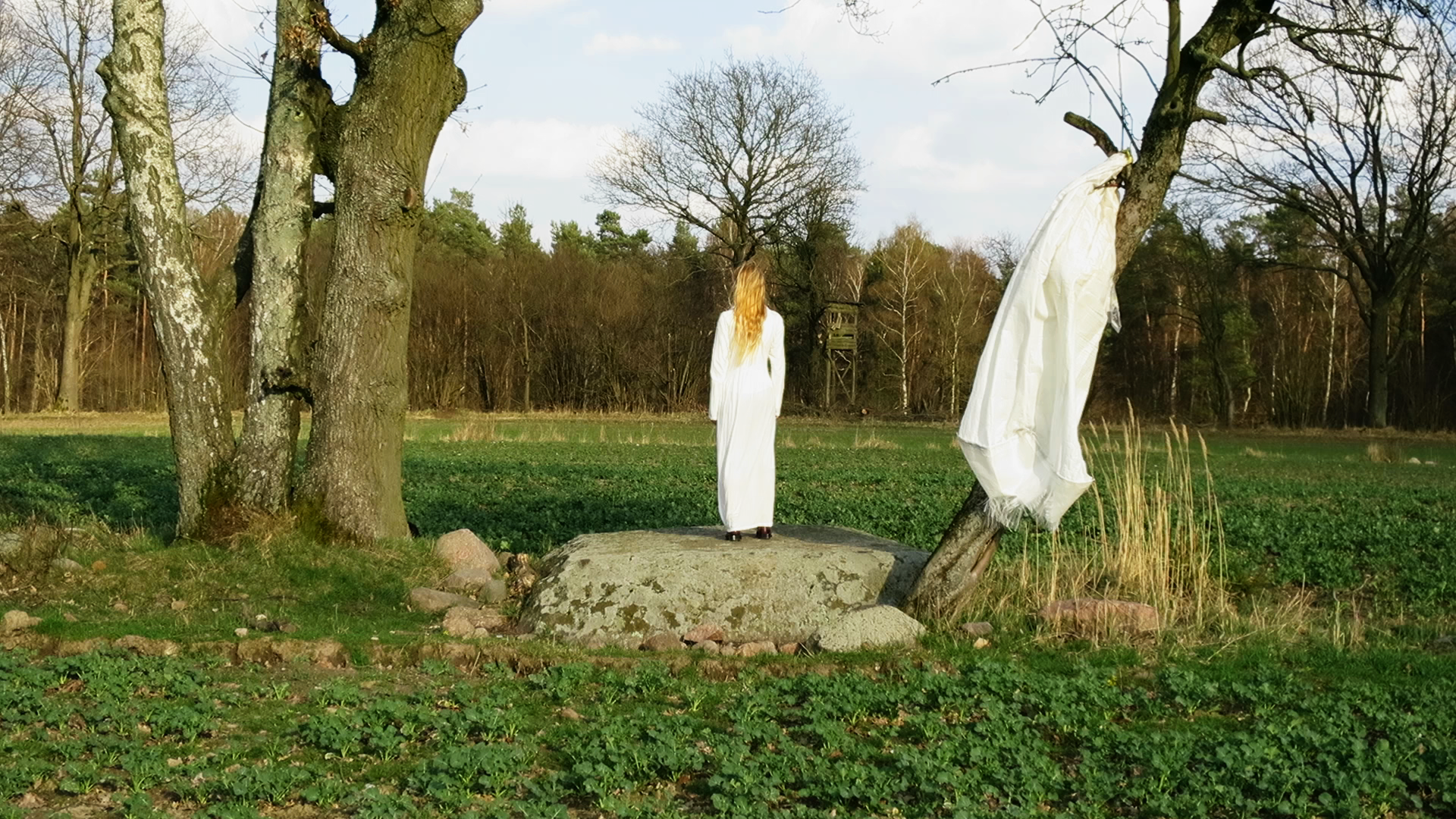 Blumenthal  Conceptual Performance Art Project, film still  Duration: ongoing, 2014 - present  2014, Blumenthal, Prötzel Stadtstelle, Germany