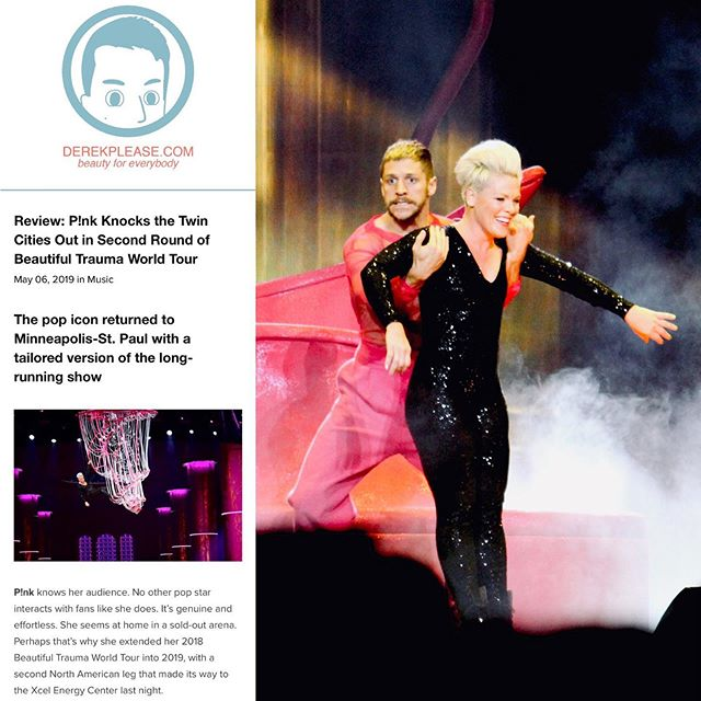 My review of the @pink #beautifultraumatour is live on DerekPlease.com and inside the next issue of @twincitiesgayscene