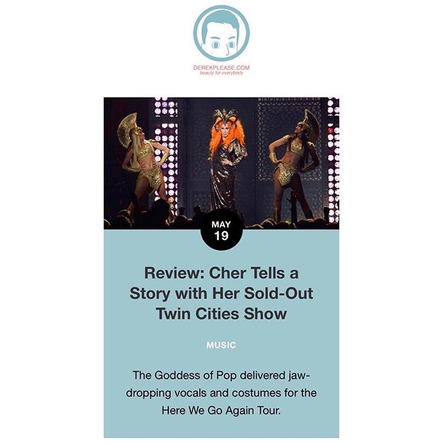 "Last night's @Cher show? Worth reading about! Please read and ""Cher"" my review 😉"