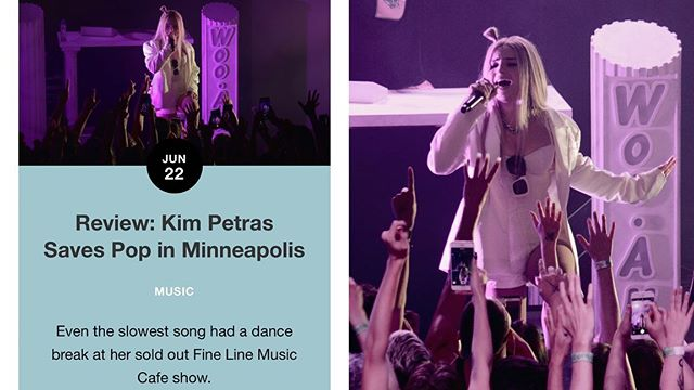 Thank you for all the love today on my @kimpetras and @aaj0seph review! It means everything to me. You can read it on DerekPlease.com if you haven't  #kimpetras #lgbt #music #popmusic #concert 📷 Photos by @jakelstiltskin