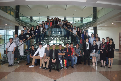 The new students attend orientation in Kuching.