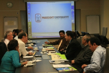 Getting to know the delegation from President University.