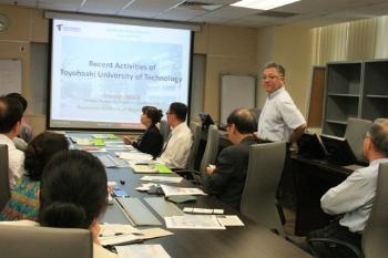 Prof Inoue elaborates on TUT's activities.