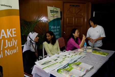 WOU booth set up in the vicinity to answer queries about the programmes offered.