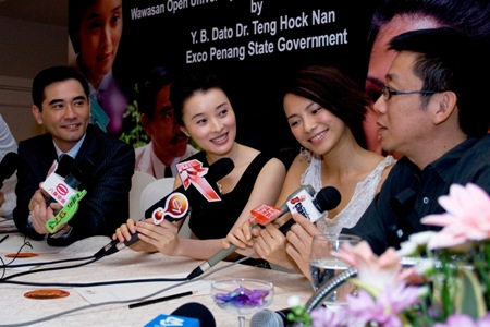 The main stars and the director, Derek Chiu, answer questions about their movie.