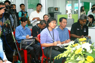 Press conference after the launch.