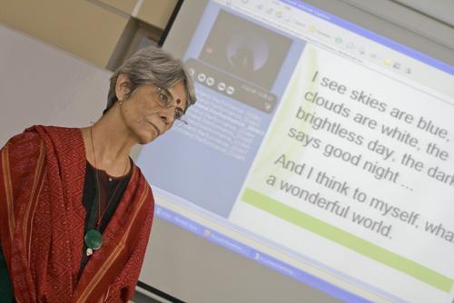 The workshop coordinator, Jai Chandiram.