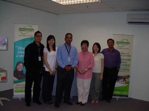 Meilina (3rd from right) inside the BU8 office.