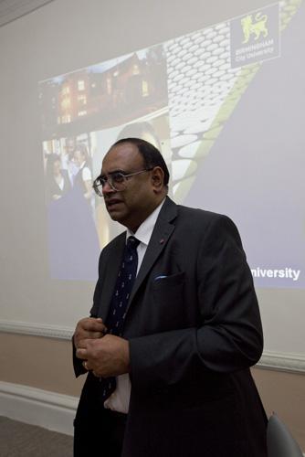 Paul Sabapathy gives his presentation.