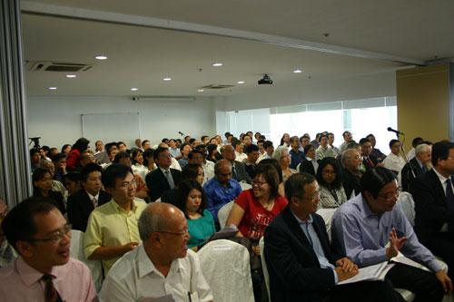 Participants at the forum.