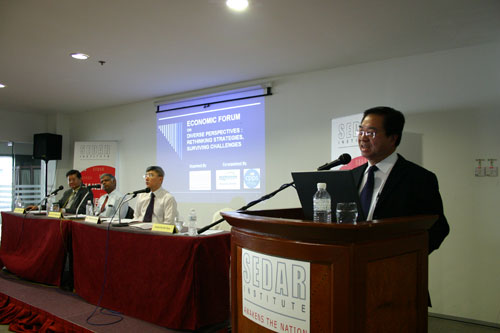 The panel (from left to right): Dr Michael Yeaoh, Dr Thillainathan, Mah and Chua.