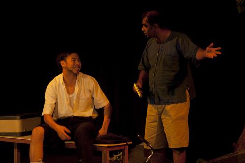 Yao-han and Himanshu in action.
