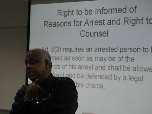 WOU Deputy Vice Chancellor U K Menon highlights the rights of citizens.