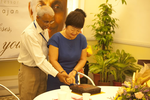 Prof Dhanarajan with his wife, Puan Sri Sue.
