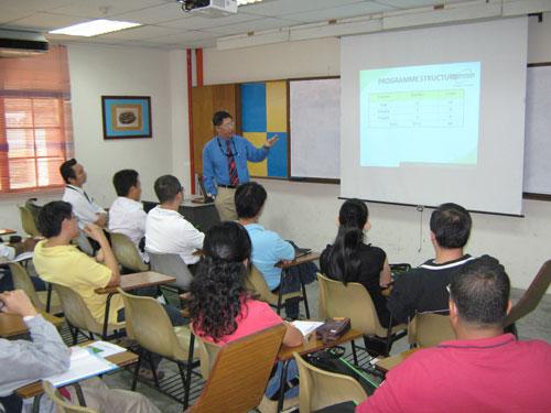 Prof Tham explains the programme structure.