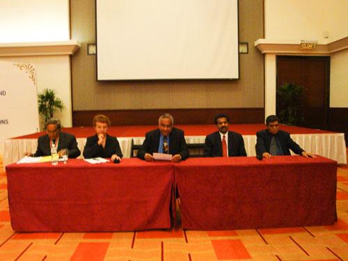From left: Dr Sankaran, Aida, U K Menon, Selva and Hamdan.