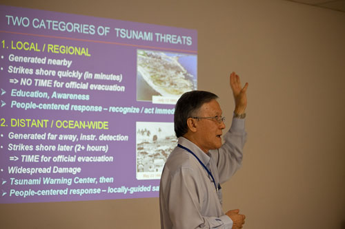 Education and awareness of the people is important in facing any tsunami threat.