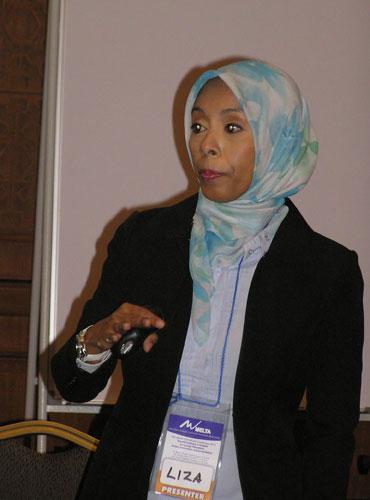 Noor Azliza in action.
