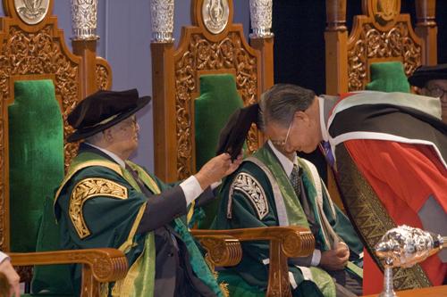 Dato' Sharom Ahmat being conferred Honorary Degree.