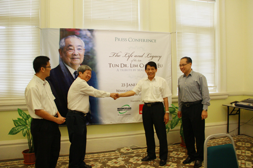 (From left) Dr Thor Teong Gee from Penang Gerakan, Prof Wong, Dr Teng and Deputy Vice Chancellor (Operations) Dr Seah Soo Aun.