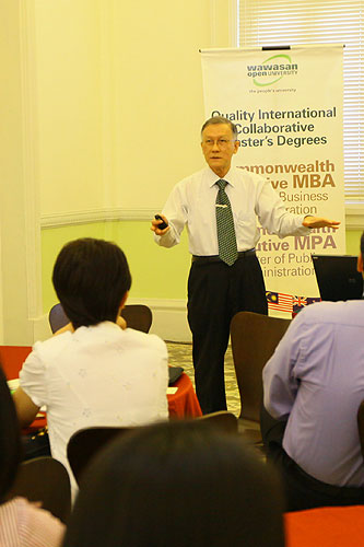Prof Ho shares on WOU's teaching and learning model.