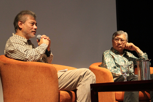 Prof Jomo responds to questions. At right is Dato' Sharom Ahmat.
