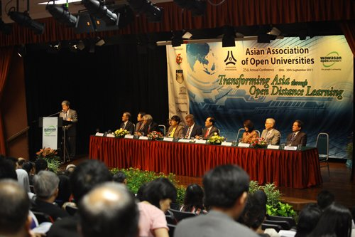Prof Wong speaks at the opening of the conference.