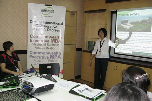 Lim Yeang See (Marketing) introduces about WOU.