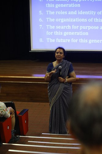 Prof Indira gives insight into understanding youths.