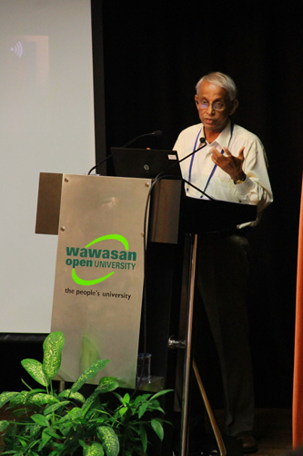 Prof Gajaraj Dhanarajan.