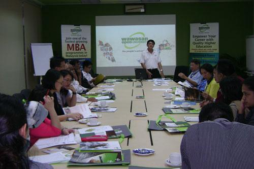 WOU holds tea talk at Penang Skills Development Centre.