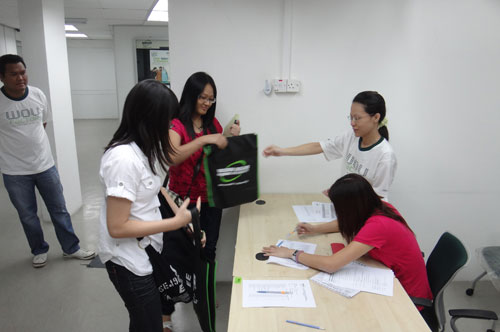 New students at the Penang Regional Office.