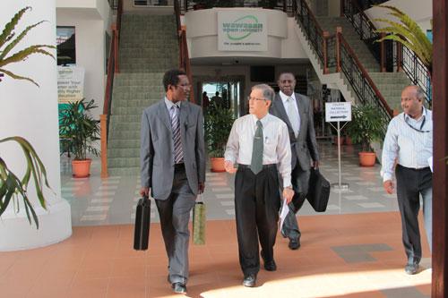 KNUST delegates explore the campus.