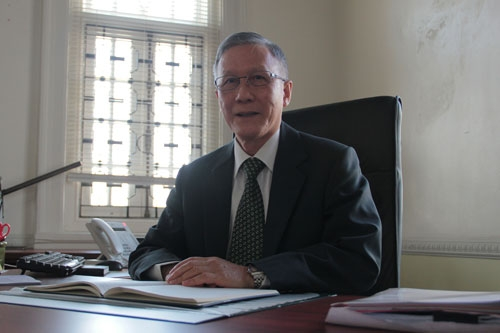 Prof Ho at his office.