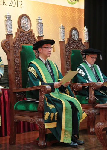 Dr Koh delivers his maiden convocation address as Pro-Chancellor.