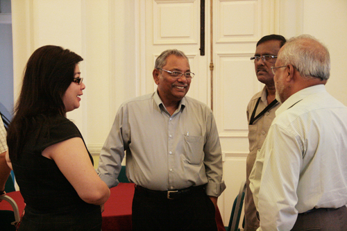 The new Professor of WOU, Prof Santhiram (centre).