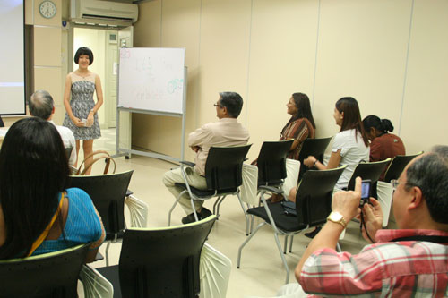 Quan Ling finds she is now more confident in public speaking.