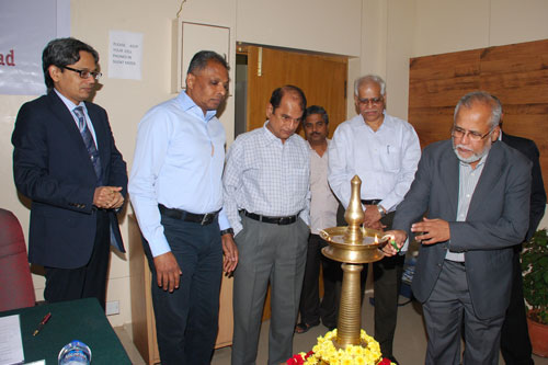 Dr Som Naidu (2nd from left) at Inauguration of workshop by Prof Mohandas Menon (right).