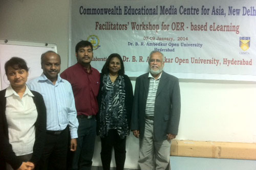 (From left to right) Deehbanjli, Prakash, Vighnarajah, Jasmine and Prof Mohandas.