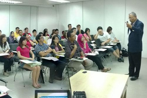 Prof Santhiram addresses the new students at IPRC.