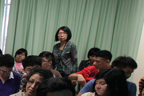 Part of the students at the talk.