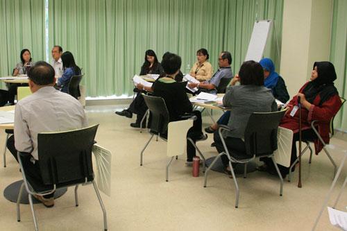 The participants undergo training.