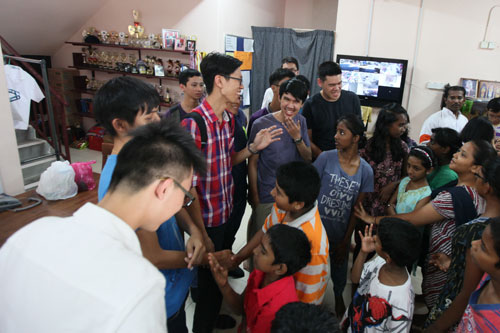 The full-time students of WOU enjoy mingling freely with the kids.