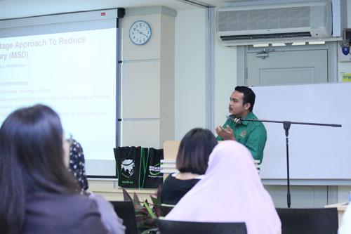 Muhamad Nor Hikshan elaborates on ergonomics.