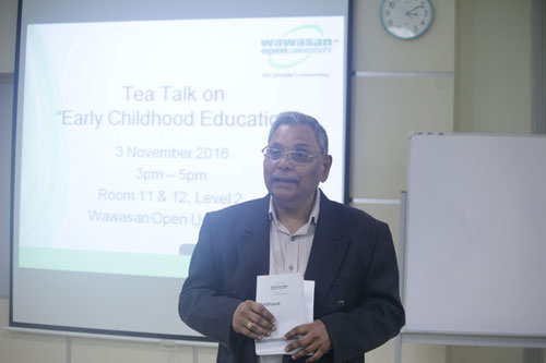 Prof Santhiram shares the programme outline.