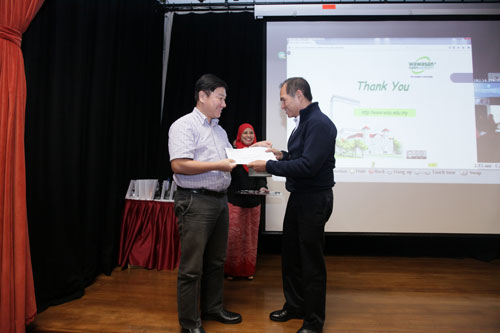"""""""Thank You"""" to Yeong for his long years of service."""
