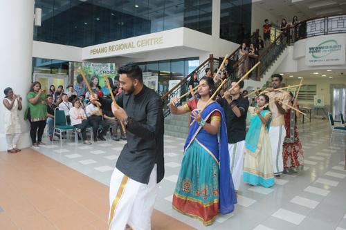 'Kolattam' performance by the full-time students.